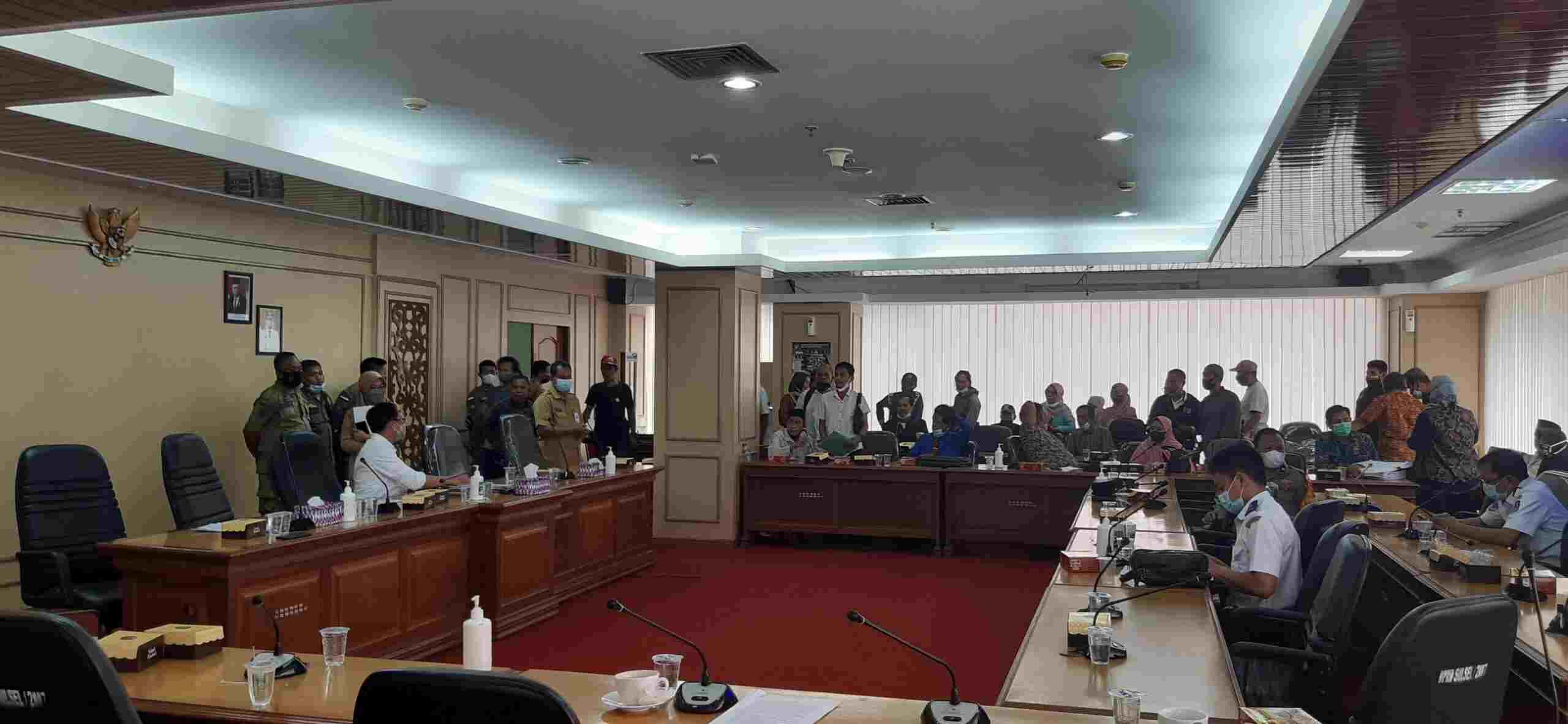 rapat dengar pendapat dengan komisi A DPRD Sulsel
