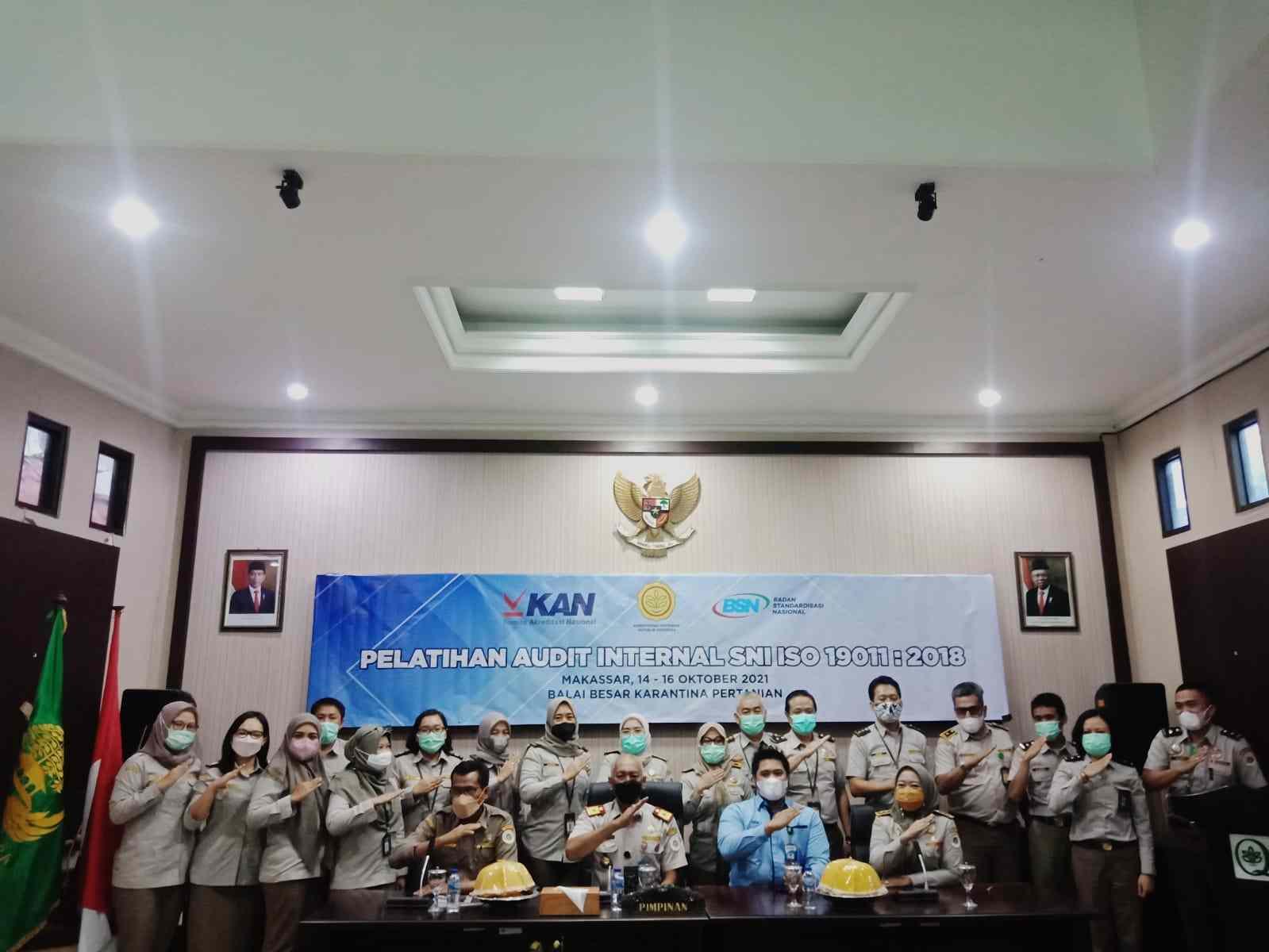 BBKP Makassar Gelar Pelatihan Griyaan Audit SNI ISO 19011 - 2018