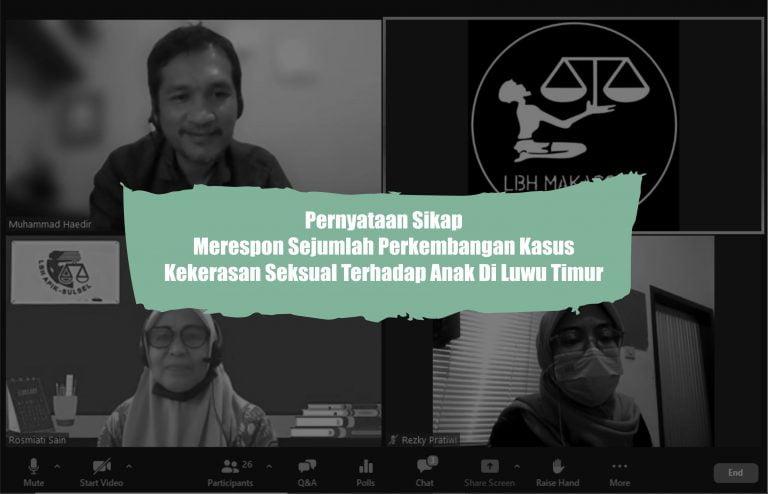 Kasus Anak di Lutim, Tim Kuasa Hukum Korban Nyatakan Sikap