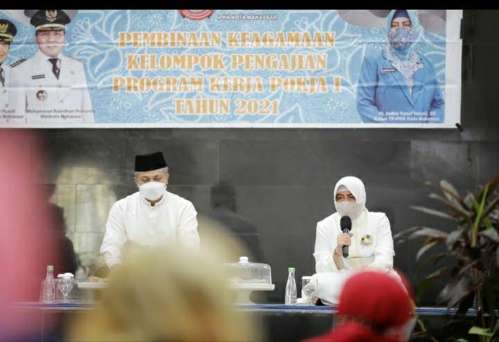 Pesan Indira Yusuf Ismail di Pengajian TP PKK Kota Makassar