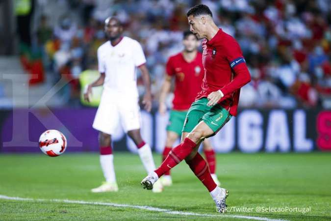 Portugal vs Qatar: Ronaldo CS Tekuk Qatar 3-0