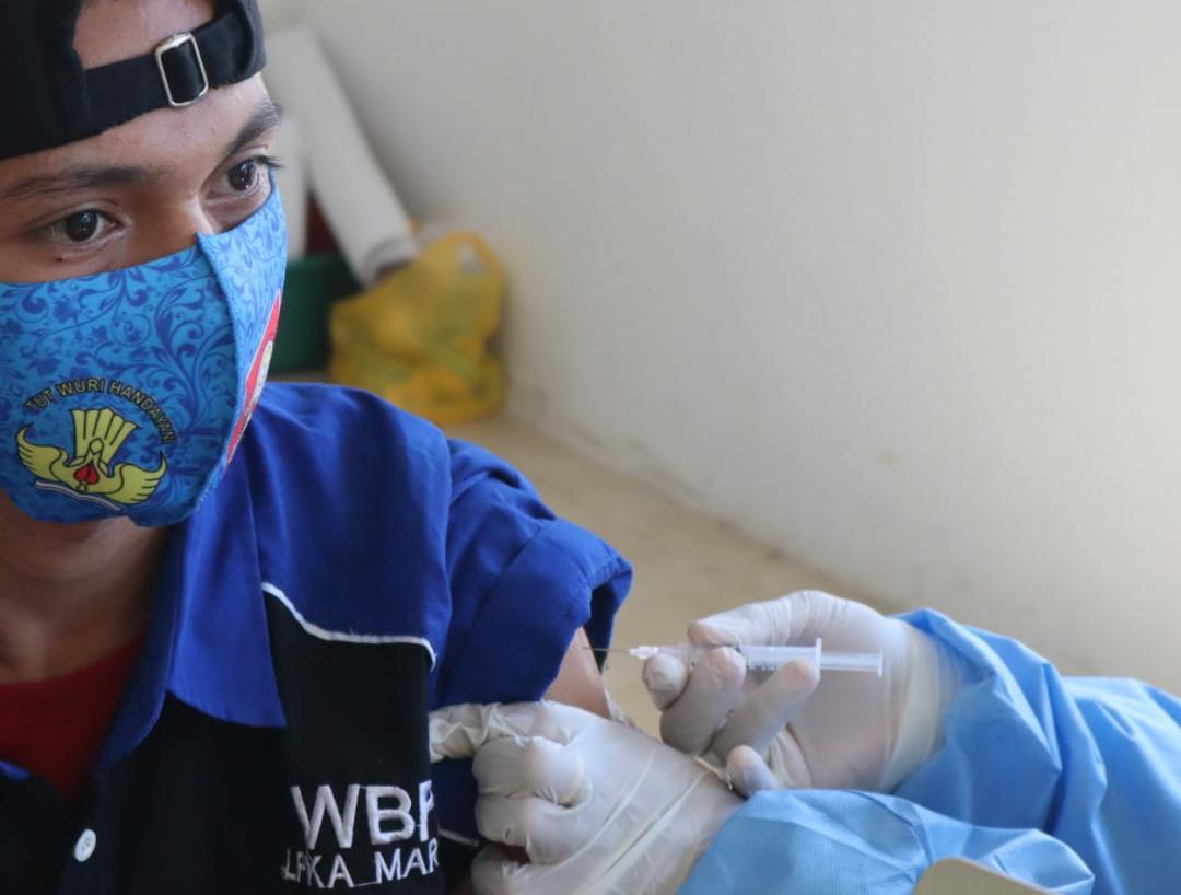 Kemenkumham Sulsel Apresiasi Vaksinasi LPKA MarosTargetkan 100 Persen