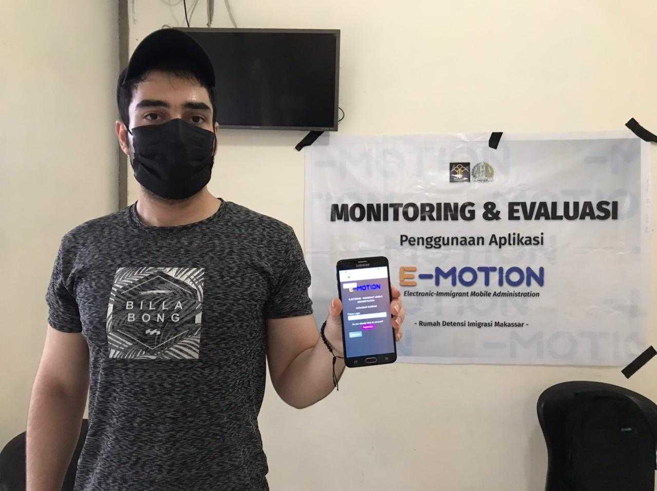 Aplikasi E-Motion, Cara Moderen Rudenim Makassar Monitoring Pengungsi Luar Negeri